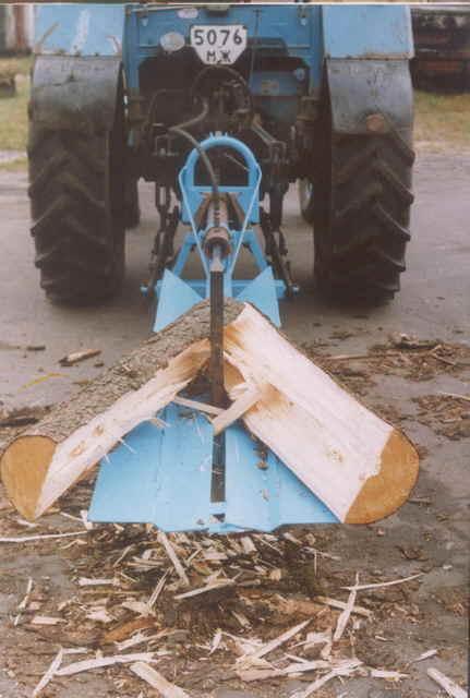 Дровокол своими руками для трактора